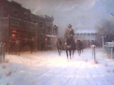 "G. Harvey ""  Winters Eve ""  Hand Signed & Numbered  image size 22"" x 14.5"""