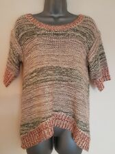 Size 10 Top GEORGE Orange/Green Soft Loose Knit Casual Women's Ladies VGC