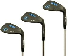 LAZRUS Premium FORGED Golf Wedges Set For Men - 52 56 60 Degree (Black)