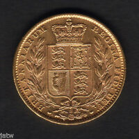 Australia. 1878 Sydney - Shield Sovereign...  Much Lustre..  gVF/EF
