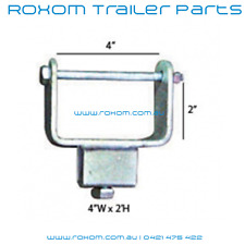 """Boat Trailer Bracket. 4"""" X 2"""" / 100mm x 50mm Tube Side Adjuster. Clamp On Style."""