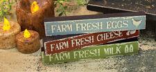 Farm Fresh Eggs, Cheese, Milk Mini Signs, Set of 3