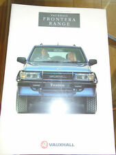 Vauxhall Frontera range brochure 1992 Ed 1