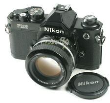Nikon Black FM2N SLR Camera With f/1.4 lens
