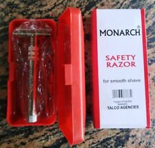 Monarch Stainless Steel Safety Razor For Smooth Shave Easy Grip + 10 Blade FREE