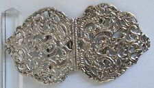 Antique Victorian Sterling Silver Nurses Belt Buckle St. Michael Angel & Devil