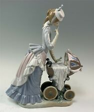 New ListingLladro Figurine, Baby's Outing #4938 Mother & Newborn Baby in Ornate Carriage
