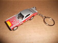 1972 Dodge Charger Nhra Chi Town Hustler Diecast Model Car Keychain Silver W Red