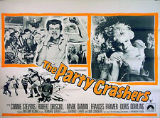 PARTY CRASHERS 1958 Bobby Driscoll, Connie Stevens Frances Farmer UK QUAD POSTER