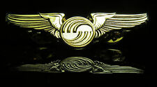 Airbus Wings Pin Gold gift Pilot Stewardess Flight Attendant uniform badge 50mm