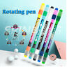 Stationery Anti-Skid Non Slip Rotating Ballpoint Pen Spinning Pen Rolling