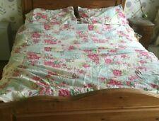 Kirton House Kingsize Duvet Cover Set 2 Pillow Cases Vintage Floral Striped