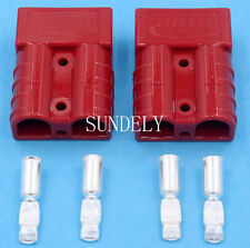 Pair of 175 AMP connector 175A Anderson Style Plugs red 4X4 4wd Trucks,Forklift