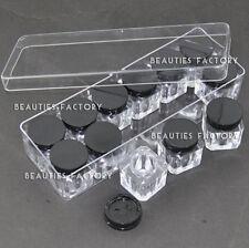 BF Empty Nail Art Deco Square Bottle Storage Display Box Case 12pcs Set #752F