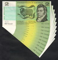 Australia R-82. (1967) 2 Dollars - Coombs/Randall.  aUNC - CONSECUTIVE Run of 10