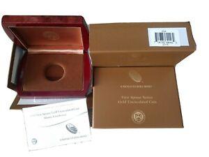 US Mint Box & COA  2015 $10 Gold Unc FIRST Spouse Mamie Eisenhower NO COINS
