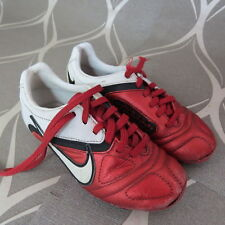 Nike CTR360 Red White 2010 Football Boots size UK C 12 (EU 30 US 12.5)