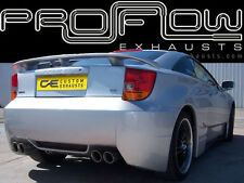 TOYOTA CELICA STAINLESS STEEL CUSTOM BUILT EXHAUST BACK BOX DUAL TWIN TAIL PIPES