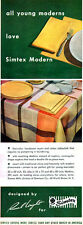 Russel Wright SIMTEX MODERN Tablecloth MATKINS Creamer 1950 MAGAZINE AD