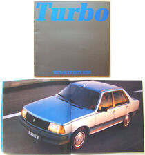 Renault 18 Turbo Saloon 1980-81 Original French Sales Brochure No. 20.114.05