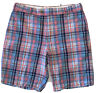 Peter Millar Shorts Seaside Collection Linen Silk Cotton Size 32 Pink Blue Plaid