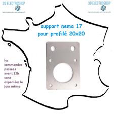 Supports inox moteur Nema 17 pour profilé alu 20x20 imprimante 3D nema motor