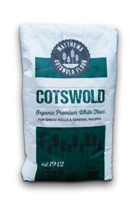 Organic Premium White Bread Flour - 16kg