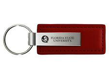 Florida State University - Leather and Metal Keychain - Burgundy