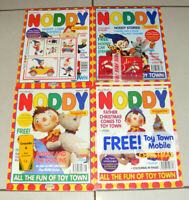 4x Rare Vintage BBC Noddy Magazines 1992 + Free Gifts Issues 1, 2, 3 & 6 Sealed