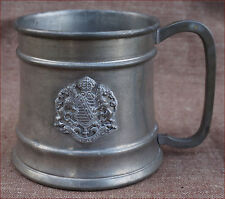Providentiae Memor German Stein Beer Saxe Kingdom Arms Pewter 1908