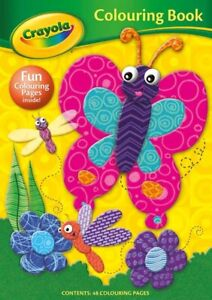 Kid's CRAYOLA Colouring Book Butterfly 3 years +