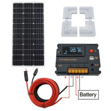 100W Solarmodule system & Controller 12V battery Charge Caravan Boat Home RV