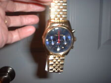 Michael Kors MK6206 Lexington Chronograph Blue Dial Gold Tone Stainless Watch