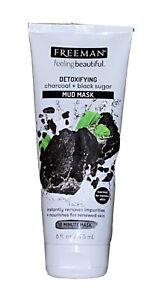 Freeman Detoxifying Charcoal+Black Sugar Mud Facial Mask Renews Skin 6oz