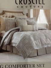 Croscill Couture Platinum Rowling King Comforter Set New,
