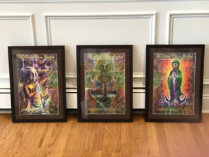 Autographed String Cheese Incident Triptych Posters Professionally Framed
