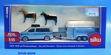 SIKU 2310 / 1:55  Super Polizei-PKW mit Pferdeanhänger