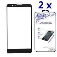 [2x] For LG Stylo 2 /G Stylo 2 Ballistic Tempered Glass Screen Protector [Black]