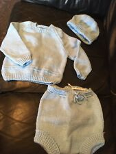 Bundle Of Hand Knitted Baby Clothes Jumpers never used