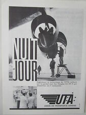 1964-65 PUB UTA AIRLINE TRANSPORT AERIEN DOUGLAS DC-8 AIRLINER ENGINE AD
