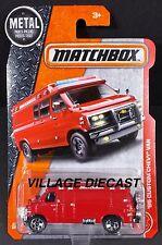 2017 Matchbox #87 '95 Custom Chevy® (G30) Van RED/MOTORBIKE VERSION/MOC