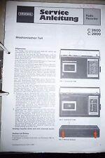 Service Manual Grundig C 2600, C 2800 ,ORIGINAL