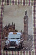 London Taxi Big Ben Metal Sign Painted Poster Garage Superhero Wall Decor Art *