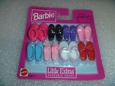 "Barbie Shoes -Mattel ""Little Extras"" For Flat Foot  Poseable Dolls  NIP"