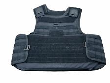 More details for molle tactical black mehler body armour bullet proof spike & stab vest grade b