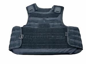 Molle Tactical Black Mehler Body Armour Bullet Proof Spike & Stab Vest Grade B