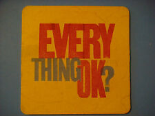 Beer Coaster: UK Mental Health Message ~ Every Thing OK? ~ Time to Talk & Change