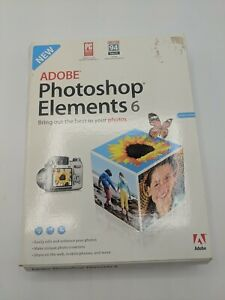 Adobe Photoshop Elements 6 Software - New In Sealed Box - Free Shipping-