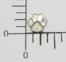 Oxidized Bear Paw Jewelry Finding 43694 6 Pc Matte Silver