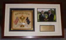 2004 RYDER CUP FRAMED SHADOWBOX DISPLAY EMBLEM CAPTAIN'S PHOTO OAKLAND HILLS